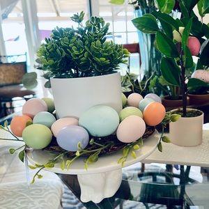 Adorable Pastel Easter Egg Wreath